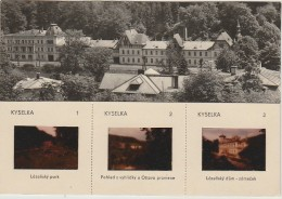 Czech And Slovak Socialist Republic CSSR - 3 Slides - Postcard Orbis 1967 - Kyselka - Non Classificati