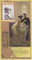 Chromos - Lefèvre-Utile - Art Nouveau - Gaufrée - Napoléon Joséphine - Théâtre Femme Jane Hading - Lu