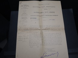 FRANCE - Document Pour Remise De Pension Militaire 1922 - A Voir - L 2844 - Dokumente