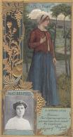 Chromos - Lefèvre-Utile - Art Nouveau - Gaufrée - Théâtre Femme Suzanne Desprès - Vignes - Lu