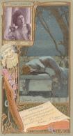 Chromos - Lefèvre-Utile - Art Nouveau - Gaufrée - Théâtre  - Femme  - Mme Jeanne Granier - Lu