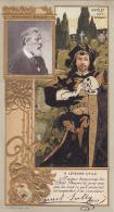 Chromos - Lefèvre-Utile - Art Nouveau - Gaufrée - Théâtre Mounet Sully  Comédie Française - Hamlet Crane Skull - Lu