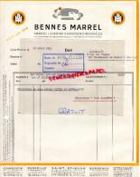 42- SAINT ETIENNE- -92- COURBEVOIE- FACTURE BENNES MARREL- 1953- MARSEILLE- - 1950 - ...