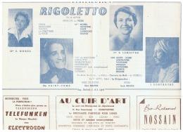 CONSTANTINE   RIGOLETTO  DECEMBRE 1960 - Théatre & Déguisements