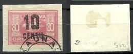 LITAUEN Lithuania 1922 Michel 179 O Signed Zumstein - Litauen