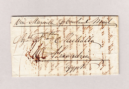 GB London 8.7.1952 Brief Ohne Marke Nach Alexandria Egypten - 1840-1901 (Victoria)