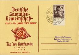 Drittes Reich  Sonderkarte, Tag Der Briefmarke  [200916KIV] - Briefe U. Dokumente