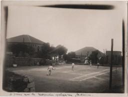 Photo Originale  Militaria LIBAN Souk El Gharb Une Partie De Tennis En Double 1930 - Places
