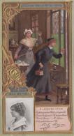 Chromos - Lefèvre-Utile - Art Nouveau - Gaufrée - Théâtre - Ecolière Ecole - Mily Meyer Illustrateur Loir Luigi - Lu