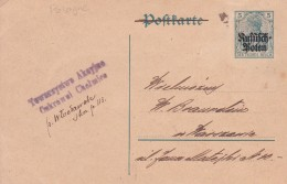 Pologne - Entiers Postaux - ....-1919 Provisional Government