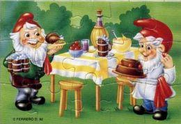 Puzzle Handwerkszwerge (außen) Unten Links  - Nain Cuisinière (extérieur) Bas Gauche - Puzzles