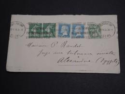 FRANCE - Enveloppe De Grenoble Pour Alexandrie En 1926 , Affranchissement 3 émissions - A Voir - L 2881 - 1921-1960: Période Moderne