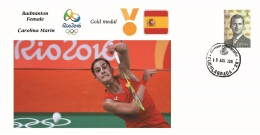 Spain 2016 - Olympic Games Rio 2016 - Gold Medal Badminton Female Spain Cover - Juegos Olímpicos