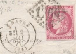Bordeaux 80 C Rose N° 49 Sur Fgt Signé Calves TB. - 1870 Emission De Bordeaux