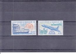 ST.PIERRE & MIQUELON  1987 AIRMAIL AIRPLANES NAMED VILLE DE ST.PIERRE    2  STAMPS   MNH - Neufs