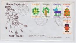 Surinam CHILDREN FDC 1973 - Childhood & Youth
