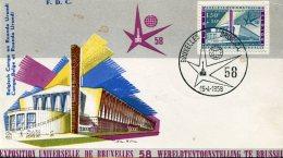 13391 Belgium  Fdc  World  Exhibition Of Bruxelles 1958,  15.4.1958  (1,50+50c)