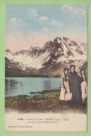 TIGNES : Fillettes Près Du Lac. Au Fond La Grande Motte . 2 Scans. Edition Grimal - Autres Communes