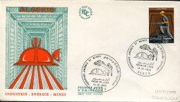 13398 Algerie, Fdc 1968  ,  Mines, Mine  Bergbau - Geology