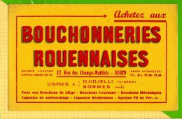 Buvard & Blotting Paper : Bouchonneries ROUANNAISES  Djidjelli (Algerie ) BORMES VAR - Liquor & Beer