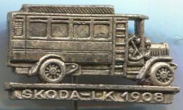 SKODA LK 1908 - Truck, Bus, Vehicle, Vintage Pin, Badge, Abzeichen - Trasporti