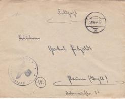 Feldpost WW2: Luftkriegschule 9 In Tschenstochau (Czestochowa Poland) P/m 17.4.1944 - Letter Inside (G76-139) - Militaria