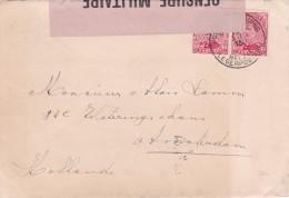 Belgique - Postes Militaires - COB 138 (2x) Lettre à Destination D´Amsterdam - Guerre 14-18