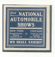 VIGNETTE LABEL CINDERELLA VIÑETA 21ST NATIONAL AUTOMOBILE SHOWS YEAR? NEW YORK CHICAGO RARE - United States