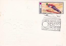 Poland Card P/m Poznan 1972 Olympic Games Sapporo   (G86-43)