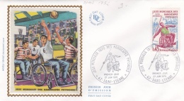 France FDC 1970 Handicap Sport   (G86-43) - Handisport