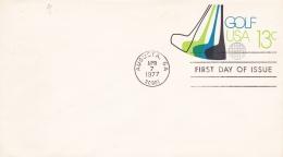 USA Postal Stationary Golf FDC Issue 1977 (G86-43)