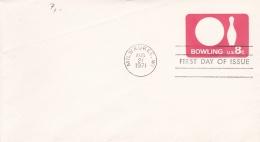 USA Postal Stationary 8c Bowling FDC Issue 1971  (G86-43)