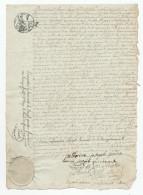 602/24 - VERVIERS - Papier Fiscal An 12 (1803/4) - Acte Epoux Godon Zourbroude Devant Le Notaire Detrooz - 1794-1814 (French Period)