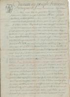 603/24 - VERVIERS - Papier Fiscal Bonaparte An 12 (1803/4) - Acte Loupart Sourbroudt Devant Le Notaire Detrooz - 1794-1814 (French Period)