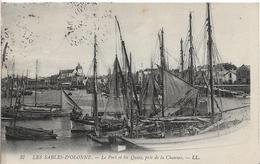 Vendée LES SABLES D' OLONNE Le Port Et Les Quais Pris De La Chaume Beau Plan Bateau  .....G - Sables D'Olonne