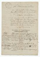 606/24 - VERVIERS - Papier Fiscal 3 Pages An 10 - Dossier Thys - Notaire Damseaux Au Conservateur Hypothèques De MALMEDY - 1794-1814 (French Period)