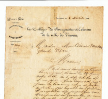 607/24 - VERVIERS - Document De La Ville 1861 Pour Madame Zourbroude épouse Deru - Documents Historiques