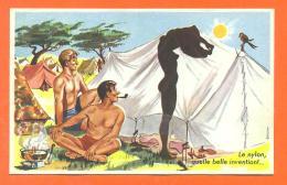 """Carriére Louis """" Le Nylon , Quelle Belle Invention """" Pin-up - Camping - Tente - FJC1 - Carrière, Louis"""