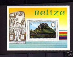 BELIZE - 1983 - QE II - MAYAN MONUMENT - MINT - S/SHEET! - Belize (1973-...)