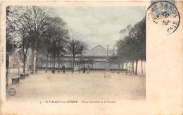 80-SAINT-VALERY-SUR-SOMME- PLACE COURBET ET LE CASINO - Saint Valery Sur Somme