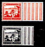 Palestina-0080 - 1927-45: Yvert & Tellier N. 80,81 (++) MNH - Privo Di Difetti Occulti. - Palestine