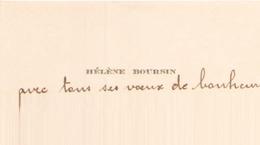 CARTE HELENE BOURSIN - Cartes De Visite