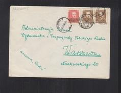 Poland Cover Groszy Overprints Gliwice - 1944-.... Republic