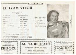 CONSTANTINE   LE TZAREVITCH  SAISON   1957 1958 - Théatre & Déguisements