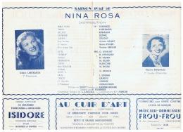 CONSTANTINE    NINA  ROSA    SAISON   1957 1958 - Théatre & Déguisements