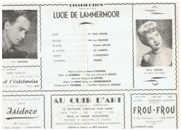 CONSTANTINE    LUCIE  DE LAMMERMOOR - Théatre & Déguisements