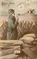 Guerre 1914-18 -ref K940- Bonne Année - Courrier - Lettre  - Carte Bon Etat  - - Guerre 1914-18