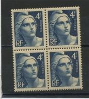 FRANCE -  M. DE GANDON - N° Yvert  725** BLOC DE 4 - 1945-54 Marianne (Gandon)