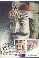 # BV 3132 EUROPA CEPT, DRACULA, ACTOR, BELA LUGOSI, MAXI CARD, 1997. ROMANIA - 1997