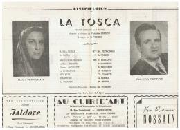 CONSTANTINE      LA  TOSCA  1960 - Théatre & Déguisements